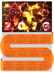 S ribbon calendar for 2013