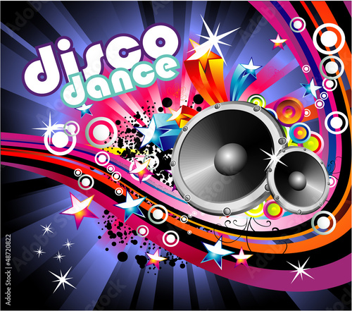 Music Colorful Flyer Background