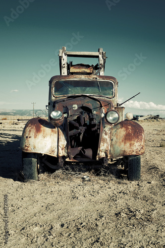 Old destroy truck