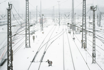 Munich Train Station in Snow