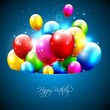 Colorful balloons flying out of pocket