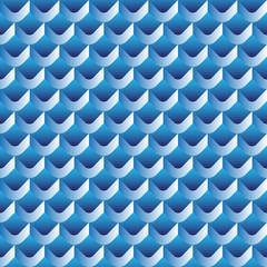 3d scallop seamless pattern