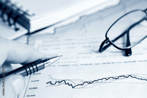 Financial graphs and charts analysis