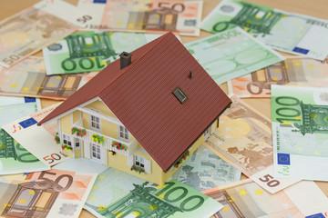 Haus auf Euronoten