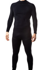 Male black thermal underwear