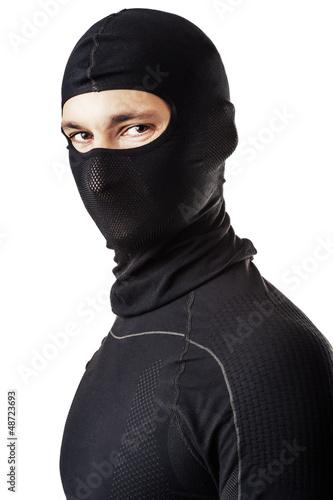 man in black ski mask