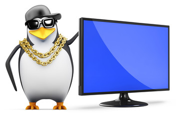 Penguin rapper and new widescreen tv