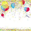Luftballon, Konfetti Partyhintergrund