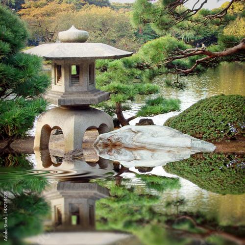 Stock photo of jardin zen japonais 48724428 image 48724428 for Jardin japonais zen