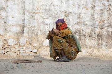 Frau in Indien