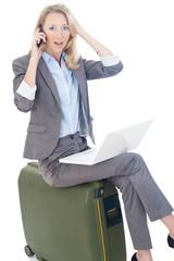 businessfrau hats vergessen