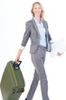 Business Frau auf Reisen