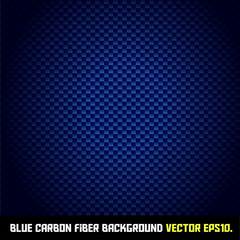 BLUE carbon fiber background VECTOR EPS10