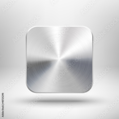Technology app icon with metal texture for ui