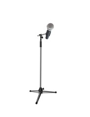 Wireless microphone over white