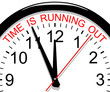 Clock. Time is running out