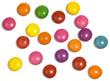 Many colourful candy