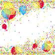 Konfetti-und Luftballonhintergrund