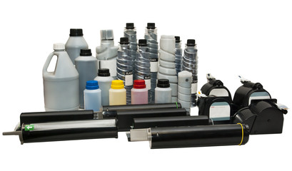Colour cartridges and powder toners for printers