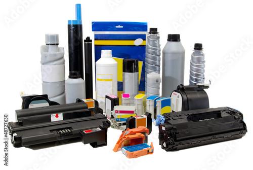 Leinwanddruck Bild Colour toners for printers