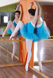 Ballet position training ballerina