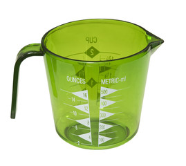 measuring cup-ounces,metric-ml, isolated