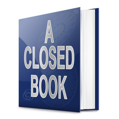 A closed book.