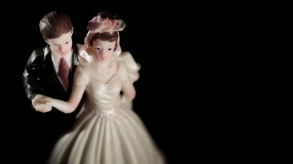 Wedding cake figurines.