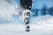 Winter running woman - 48729248