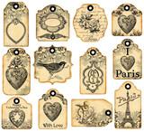 12 valentine labels