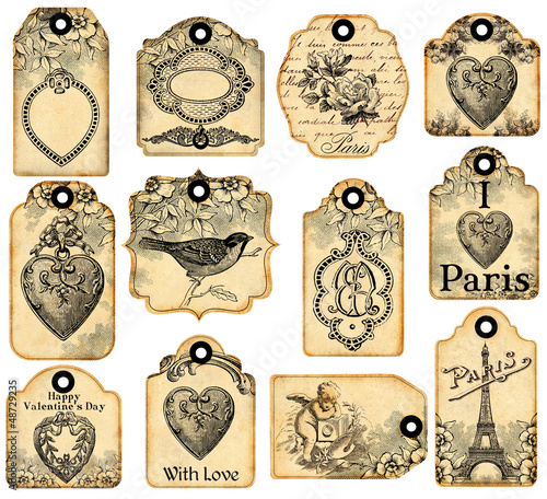 12 valentine labels