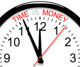 Clock. Time is money