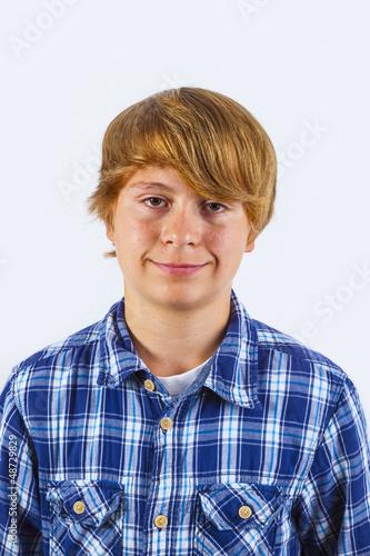 portrait of handsome smiling boy