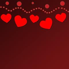 Подвешенные сердечки