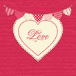 Love Heart and Bunting Background