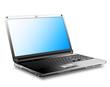 Laptop, Notebook, schwarz - Vektor, Abbildung