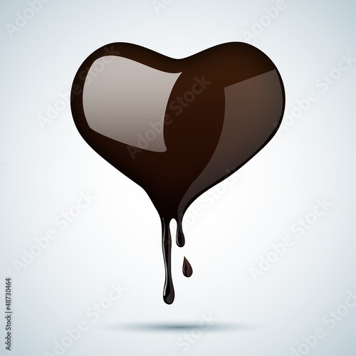 Heart of dark chocolate
