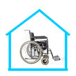 Wheelchair in a symbolic house