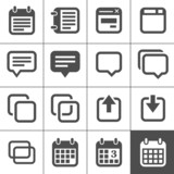 Notes, memos and plans icons