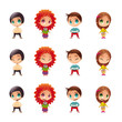 Set of funny people. Vector isolated characters