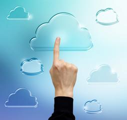 Pressing Cloud Computing Icon