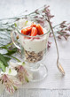 Muesli with yogurt ant strawberries