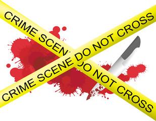 Crime scene of a knife muderer