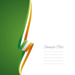 Irish left side brochure cover vector