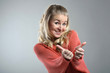 Woman Shows Thumb Up