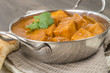 Paneer Butter Masala - Indian curd cheese curry in a balti dish.