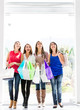 Women at the shopping center