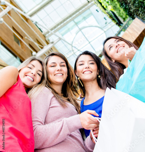 Group of female shoppers