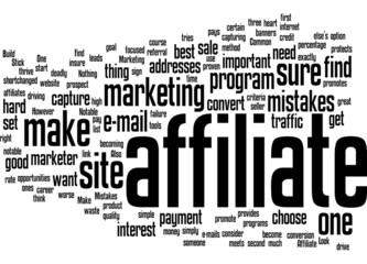 Other Notable Common Affiliate Marketing Mistakes Concept