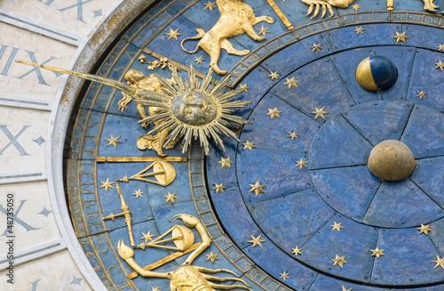 Fotobehang Venice Venice, Italy: Zodiacal Wall Clock